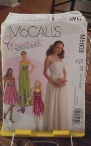 Oop-Mccalls-Create-It-5806-misses-formal-high-waisted-lined-gown-sz-14-20-NEW
