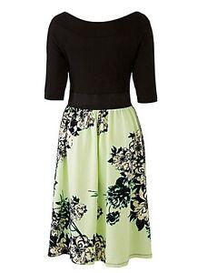 mint 12 Size Black £55 Rrp Dh077 Capsule 24 Printed Dress Qq PwqRwx5O