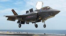 "F-35 LIGHTNING II MILITARY FIGHTER JET 24"" x 43""  LARGE POSTER PRINT NAVY JET"