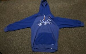 more photos 7d7f4 85db8 Details about MAJESTIC AUTHENTIC DRY BASE MLB NEW YORK METS HOODIE  SWEATSHIRT SZ M
