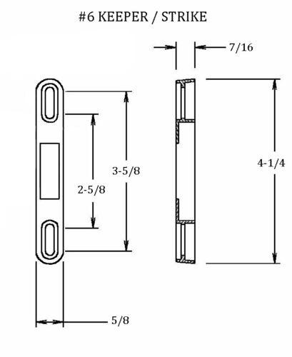 Remplacement coulissantes en verre//Porte Patio serrures à encastrer et gardien Kit