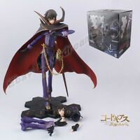 "Cool ! Code Geass R2 Zero Lelouch Rebellion 23cm/9.2"" Scale PVC Figure NB&WB"