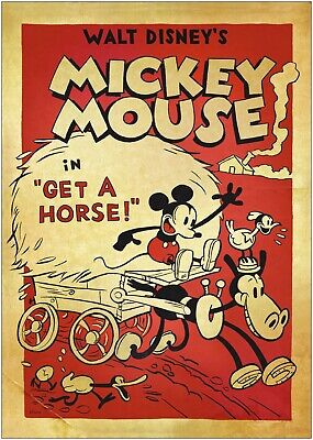 A3 A4 available Vintage Mickey Mouse Poster A1 A2