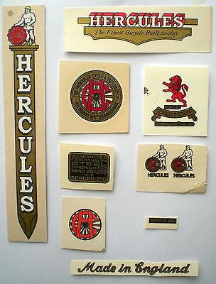 n.100 Decals Hercules Bicycle Frame Stickers