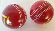 3 X Premium Quality SupremeTest 5 1/2 Oz Cricket Balls Red Hand Stitched Leather