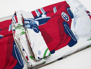 Pottery-Barn-Kids-Multi-Colors-Vintage-Cars-Cotton-Twin-Duvet-Cover-New