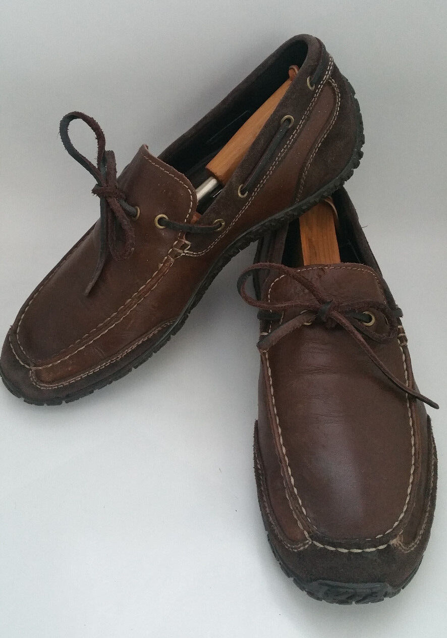 COLE HAAN NIKEAIR MENS 9 M BROWN LEATHER SUEDE BOAT SHOES DRIVING MOC LOAFER