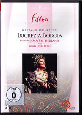 DVD DONIZETTI: LUCREZIA BORGIA Joan Sutherland RICHARD BONYNGE Sydney Opera 1990