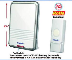 Wireless Door Chime Remote Control Battery Power Door Bell