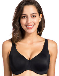 Women-039-s-Full-Coverage-Underwire-Non-Padded-Soft-Seamless-Minimizer-Bra