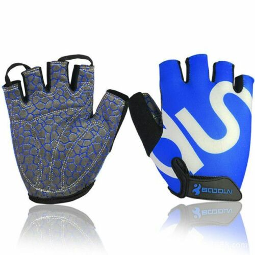 Mens Womens Gloves Synthetic Leather Bamboo Fiber Sponge Half Finger MTB Bicycle