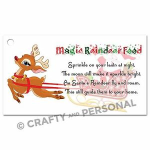 Sale magic reindeer food tags labels traditional for Christmas eve food ideas uk