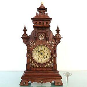 Antique Clock Mantel 1910 Baby Mini
