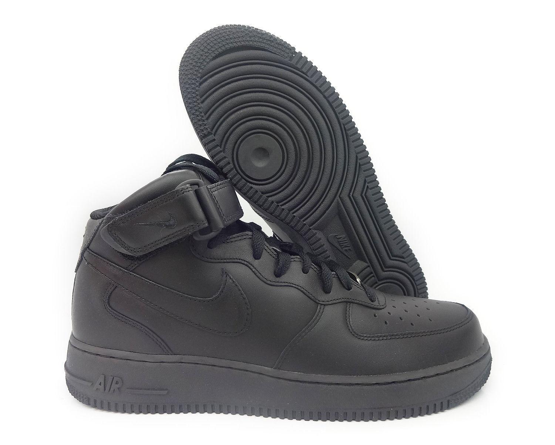 Männer - nike air force force force 1 mitte 2007 schwarz / schwarz größen 20 new in box 315123-001 b38d9e