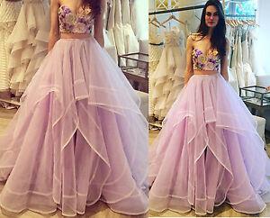 Tutu Women Long Organza Full Skirts Wedding Party Lavender Formal ...