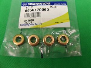 genuine ssangyong actyon sports 4cyl 2 0l turbo diesel fuel injector washer set ebay. Black Bedroom Furniture Sets. Home Design Ideas