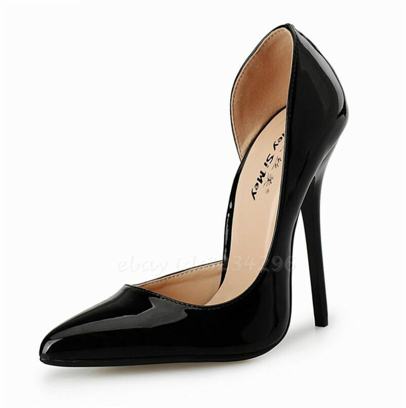 Sexy Stiletto Pumps Schuhe Damenschuhe High Heels Lackleder Schuhe Pumps Spitz Zehe Nachtclub 5744db
