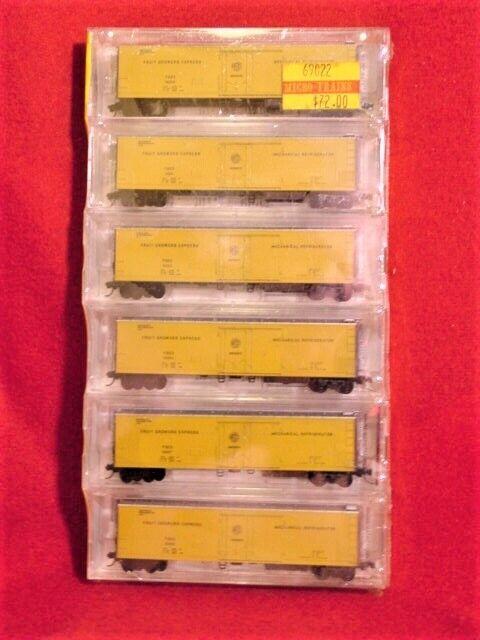 Kd 69022 frutas cultivadores Express (fgex) 6 Pack 51' Reefers  NUEVO  escala N -