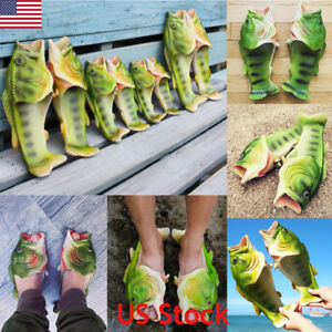 US-Ship-Unisex-Creative-Fish-Slipper-Sandals-Funny-Beach-Flip-Flops-Slides-Shoes