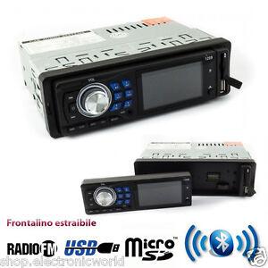 STEREO-AUTO-BLUETOOTH-AUTORADIO-MP3-FM-USB-SD-CARD-AUX-FRONTALINO-ESTRAIBILE