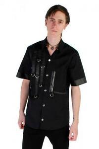Phaze-Clothing-Black-D-Ring-Tape-Zip-Pocket-Short-Sleeved-Workshirt