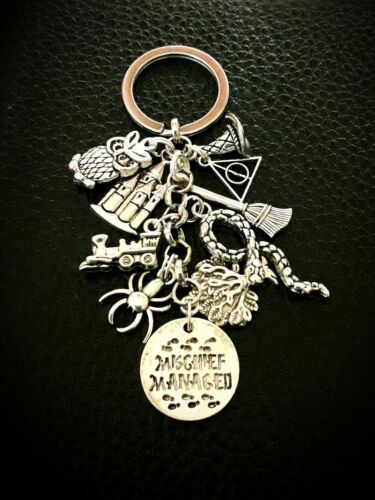 Key Ring Harry Potter Inspired Mischief Managed With Film And Book Theme Charms