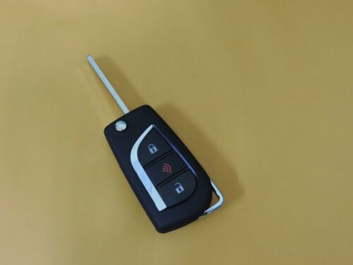 Flip Uncut Chip Key Entry Remote Clicker Fob For Toyota Corolla Sienna