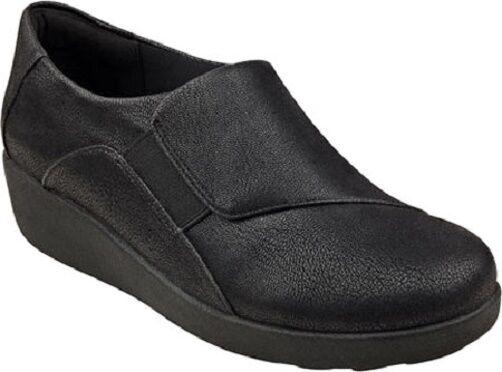 Easy Spirit Kelt walking shoe wedge loafer black Breathable GEL 12 Med NEW
