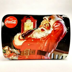 Drink-Coca-Cola-Santa-Claus-Collectible-Christmas-Tin-Decorative-Coke-Canister