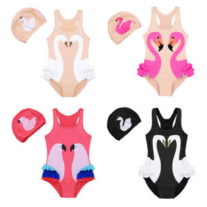 cb567b8feec82 Image is loading Toddler-Kid-Girl-Tutu-Swimwear-Swimsuit-Swan-Flamingo-