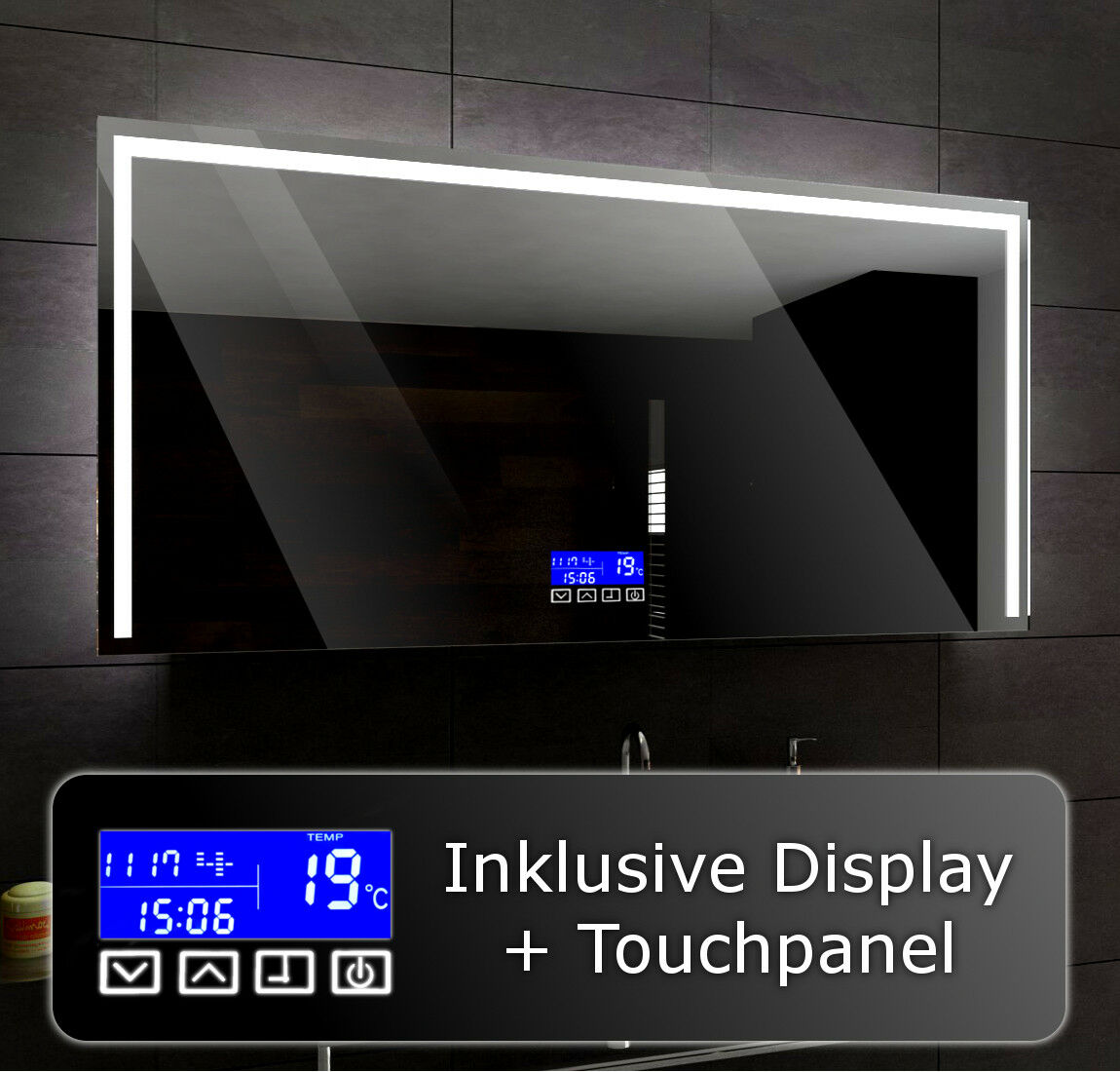 Éclairé del Miroir salle de bain LED pour mesurer Sydney   LCD TOUCH Panneau