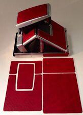 "Polaroid SX-70  PolaSkinz ""Blood Red"" Napa Cowhide Replacement Skinz SLR680"