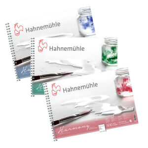 Details about Hahnemuhle Harmony Watercolour Paper Spiral Pads (HP / NOT /  ROUGH) - A4 or A3
