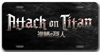 Attack On Titan License Plate Autotag/room Sign Play Station Xbox 360 Video Game