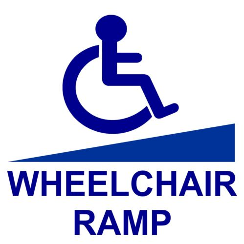 1 x Wheelchair Ramp Access Disabled Sticker-Disability-Mobility Handicapped Sign