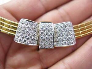Natuerlich-18KT-Designer-Diamanthaufen-Medaillon-Halskette-Gelbgold-3-18CT