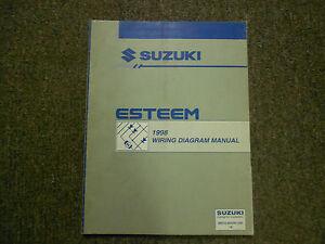 image is loading 1998-suzuki-esteem-electrical-wiring-diagram-shop-manual-