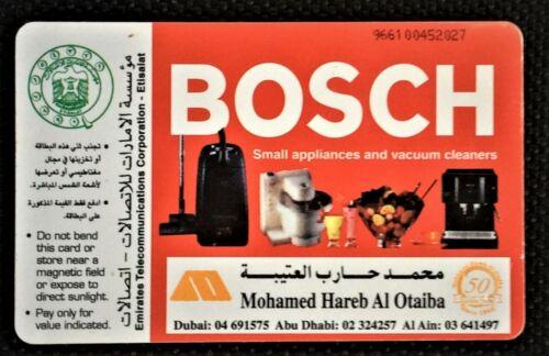 Rare UAE used Phone Cards BOSCH Appliances