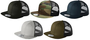 b42526ea18451 New Era 9FIFTY Mesh Snapback Hat Original Fit Trucker Cap Blank Flat ...