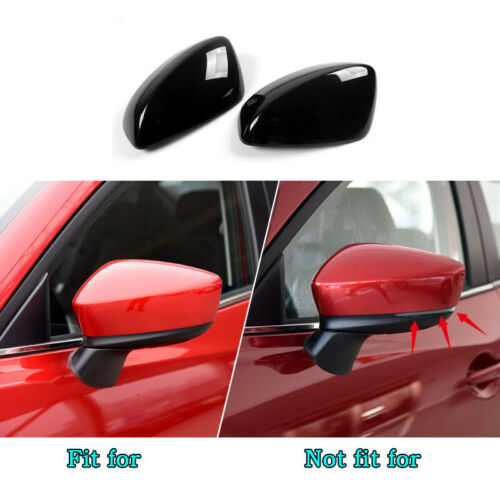 Fit For MAZDA3 AXELA m3 2014-2016 2pc shiny black Rearview Mirror Cover Trim