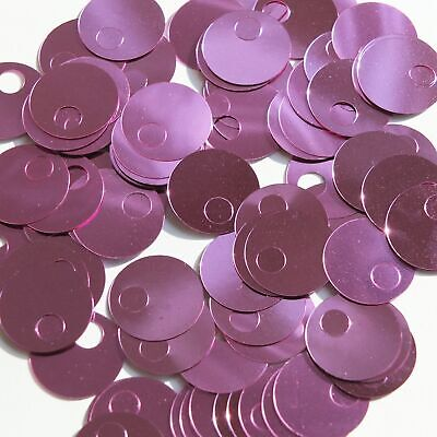 Made in USA 20mm Cup Sequins Pink Metallic