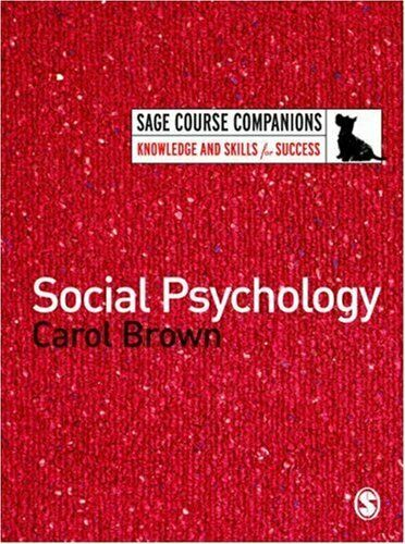 Social Psychology von Brown, Carol