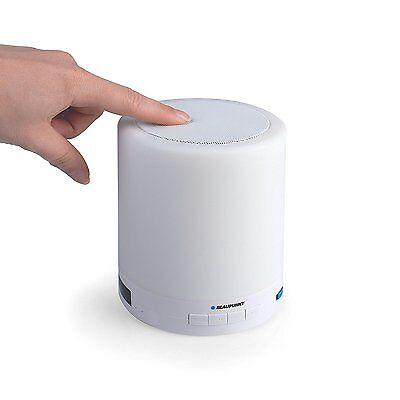 BLAUPUNKT tragbarer Bluetooth Lautsprecher Speaker mit Licht UKW FM Radio AUX-IN