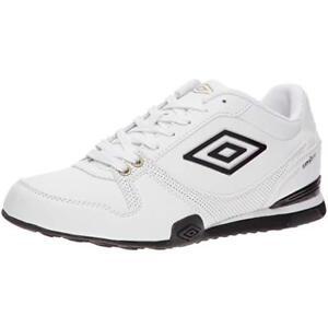 37c11bd23 Détails sur Garçons Umbro Lacet Chaussures de Sport Blanc/ Noir/ or Gremio  - Super Prix