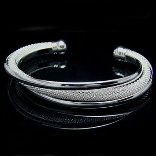 Hot Wholesale new fashion Sterling Argent Massif Femmes xiebianwang Bracelet MYB52