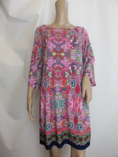 Laundry by Shelli Segal Multi color Floral Printed Shift Dress Size S