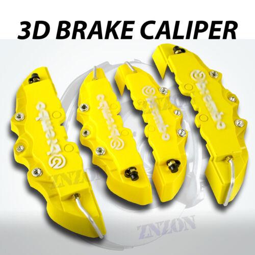 4pcs Yellow 3D Disc Brake Caliper Cover Kit For Honda Accord 16-18 inch wheels