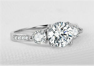 Beautiful-1CT-Channel-Set-Diamond-3-Stone-Trilogy-Ring-PT950-Finish-Sizes-5-12
