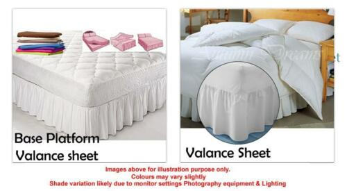 King Size Bed valance sheets in a variety pastel colours With Longer Frill Size