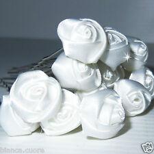 Forcine Acconciatura SPOSA Capelli cerimonia bianco roselline forcina D0391